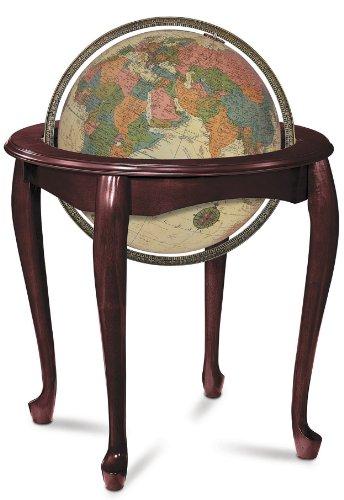 Replogle Globes Illuminated Queen Anne Globe, Antique Ocean, 16-Inch Diameter by Replogle