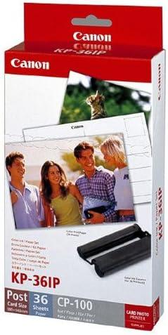 Canon Fotopapier für Canon Selphy CP 780, 36 Blatt A6 RS: Postkarte, Color Ink Paper Set, 100x148 mm, CP780