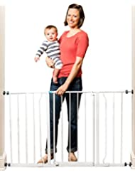 Regalo Easy Open 50 Inch Wide Baby Gate, Pressure Mount with ...
