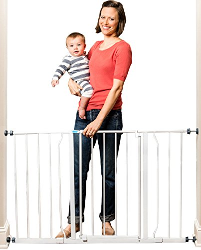 Regalo Easy Open 50 Inch Wide Baby Gate, Pressure Mount with 2 Included