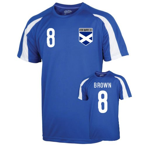 Scotland Sports Training Jersey (brown 8) Kids B0788HNY5RBlue XLB (12-13 Years)