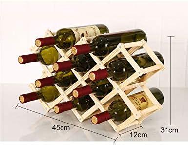 WYPG Botellero de Madera Estante para Botellas de Vino, Organizador de Vino. Vinoteca de Madera para Botella de Vino, Botella de Cerveza