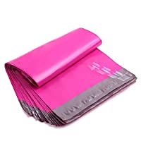 Becota Poly Colored Pink Mailer Shipping Mailing Envelope Bags 100 pcs/pack for Valentine Spring (10