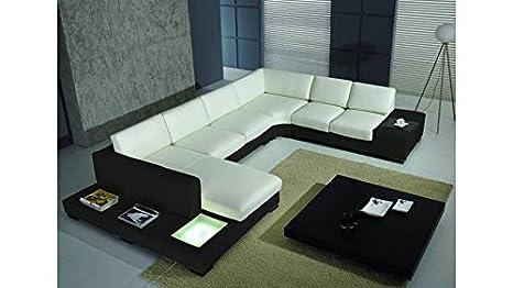 mobilier nitro sofá Piel de ángulo Denver Asís Blanca Parte ...