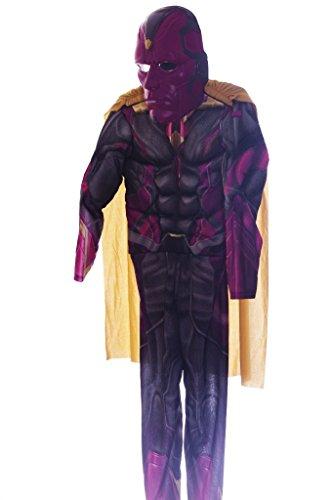[Deluxe Vision Costume - Medium] (Kids Deluxe Ultron Costumes)