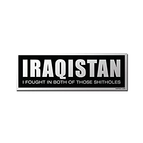 Inkfidel 2 x 6 iraqistan iraq afghanistan oif oef decal bumper sticker army usmc