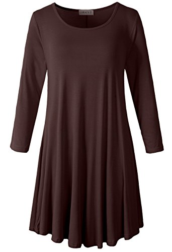 dress with 3/4 sleeves - 1