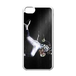 Sports richard sherman dark stadium iPhone 5c Cell Phone Case White Customized Gift pxr006_5289250