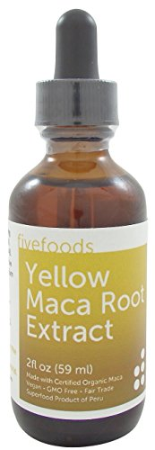 Maca Extract - Fair Trade, GMO Free, Vegan - Made From Organic Yellow Maca Roots Grown Traditionally in Peru – 2 Fl Oz - 59 Ml - Root Yellow Dock