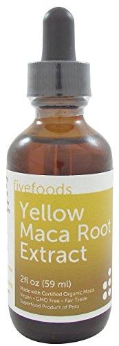 Maca Extract - Fair Trade, GMO Free, Vegan - Made From Organic Yellow Maca Roots Grown Traditionally in Peru – 2 Fl Oz - 59 Ml - Root Yellow Dock