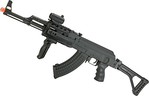 Evike - Matrix AK47 RIS Special Forces Airsoft AEG Rifle w/Skeleton Side-Folding Stock by CYMA