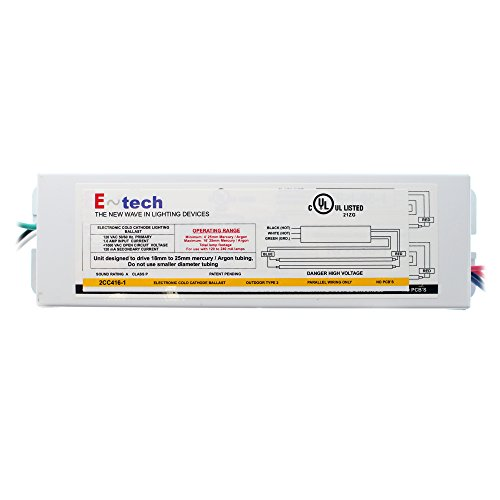 E~Tech 2CC416-1 Electronic Cold Cathode Ballast, 2-Lamp, Outdoor, ()