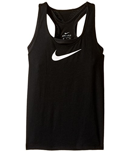 NIKE Kids Breathe 2-in-1 Training Tank Little Kids/Big Kids Black/Black/White Girl's - Sleeveless Body Nike