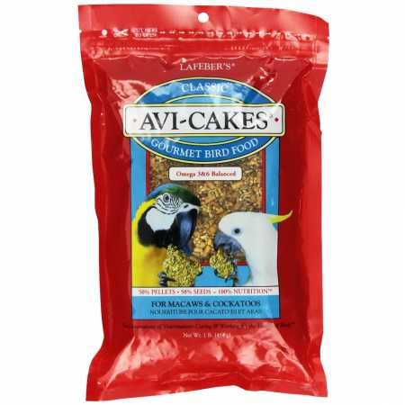 Lafeber's Avi-Cakes for Macaws Cockatoos 1lb. Package