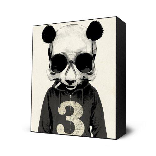 Iii Framed Canvas (Panda No.3)