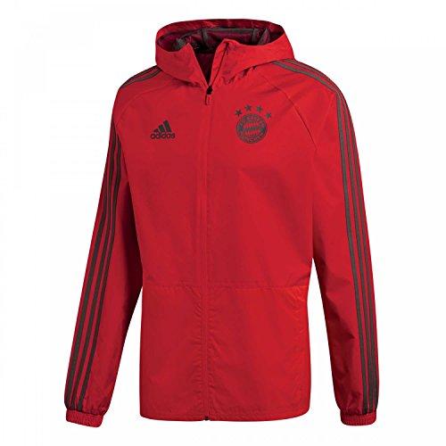 adidas 2018-2019 Bayern Munich Rain Jacket (Red) (Bayern Coat)