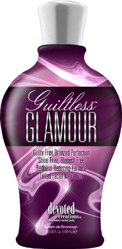 Devoted Creations Guiltless Glamour - Tinted Facial Accelerator 3.5 oz (Indoor Glamour Lotion Tanning)