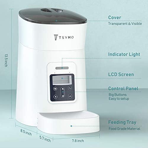 Alimentador automático para gatos y perros con temporizador programable grabación de voz 8