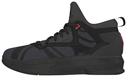 adidas D Lillard 2 J, Zapatillas de Baloncesto para Niños Negro (Negbas / Neguti / Rojint)