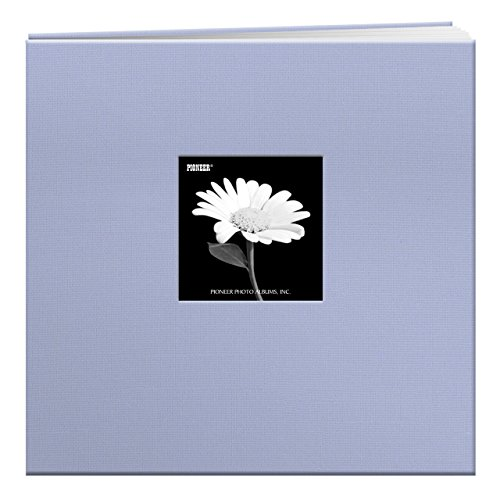 Pioneer 12 Inch by 12 Inch Postbound Fabric Frame Cover Memory Book, Heavenly Blue by Pioneer Photo Albums