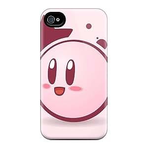 LauraAdamicska Apple Iphone 4/4s Best Cell-phone Hard Cover Custom Colorful Kirby Image [jai16848Dcqf]