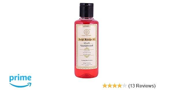 Khadi Natural Herbal Ayurvedic Sandalwood Massage Oil for all Skin Types  (210 ml)