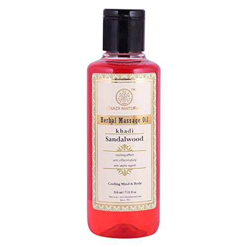 Khadi Natural Herbal Ayurvedic Sandalwood Massage Oil for all Skin Types (210 ml) ()