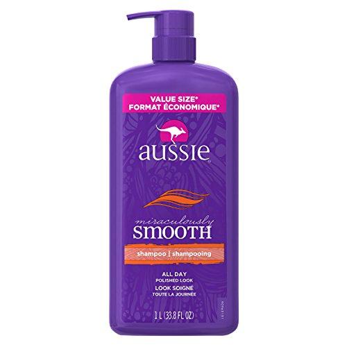 Silky Smooth Shampoo - Aussie Miraculously Smooth Shampoo with Pump, 33.8 Fluid Ounce