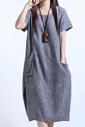 Décontractée Gris Taille Poche En Homewear Femmes Coloré Avec Large 7YmI6gvbfy