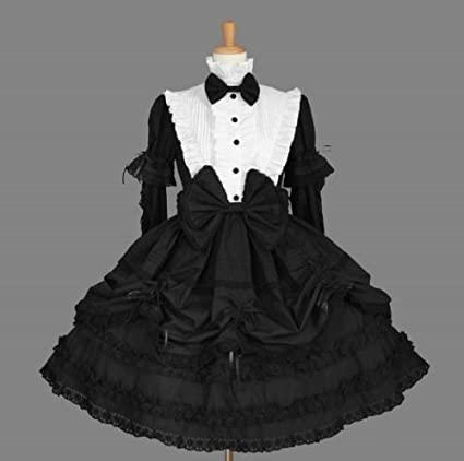 Amazon.com: CosplayerWorld New XX-Large Plus Size black and white ...