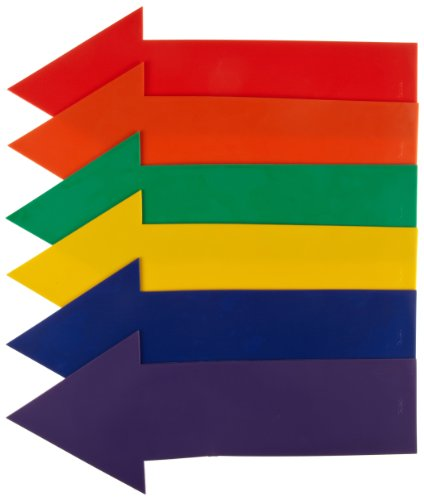 American Educational 6 Piece Poly Vinyl Straight Arrow Marker (Directional Arrow)