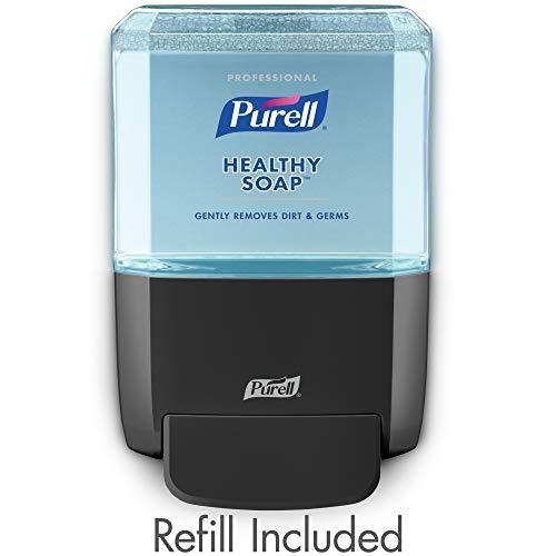 (PURELL Professional HEALTHY SOAP Fresh Scent Foam ES4 Starter Kit, 1 – 1200 mL Soap Refill + 1 - ES4 Graphite Push-Style Dispenser – 5077-1G)
