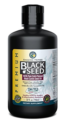 (Amazing Herbs Black Seed Cold-Pressed Oil - 32oz)
