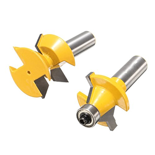 2pcs 1/2 Inch Shank Groove Router Bit Set Woodworking Cutter by SPS_IN (Image #4)