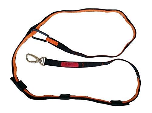 Cafford Multifunctional 6-in-1 Hands Free Dog Leash - Sturdy Clip - Heavy Duty Dog Training Leash (Orange) by Cafford