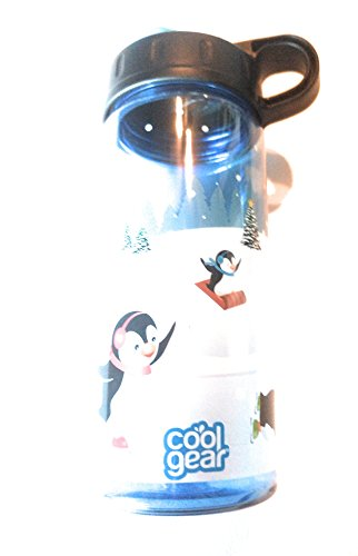 Cool Gear 16 oz Plastic Water Bottle. Ice Skating Penguins. by Cool Gear