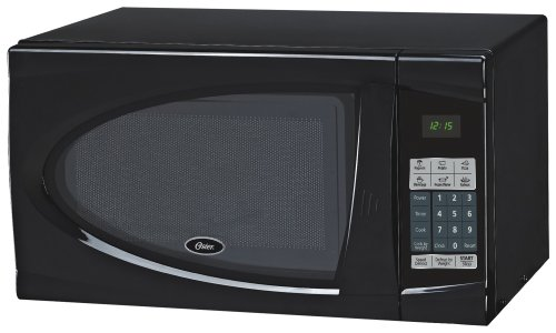 Oster OGDJ901 0.9-Cubic Feet Countertop Microwave Oven, 900-Watt, Black DPI-Kitchen Microwave Ovens