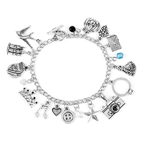 (FITIONS - Once Upon a Time Fairy Snow White Link Chain Bracelet Camera Heart Crown Charm Lobster Clasp Bracelets-25)