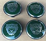 JAGUAR DARK GREEN WHEEL EMBLEM BADGE SET OF 4, C2C30080 FITS ALL X-TYPE S-TYPE AND 2004-2008 XJ8