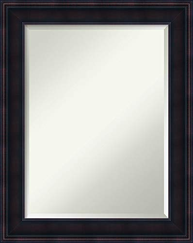 Amanti Art Vanity Bathroom Wall | Annatto Mahogany Frame | Solid Wood Mirror |, 24 x 18 glass size,