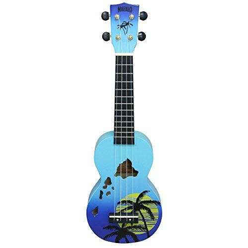 Mahalo Ukuleles Mahalo Designer Series Ukulele, Right Handed, Blue Burst, Soprano (MD1HA bub)