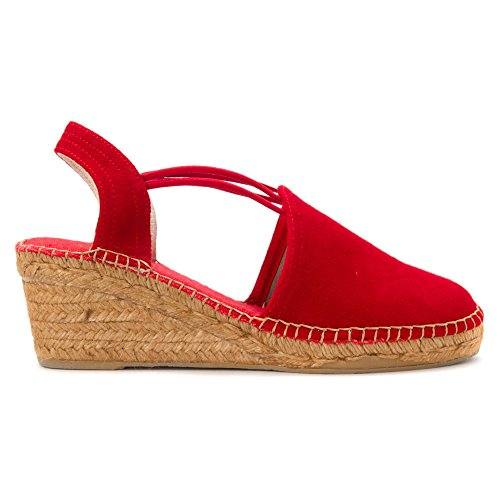 Red Sandals Suede Tremp Pons Toni Women's TSnvYxB
