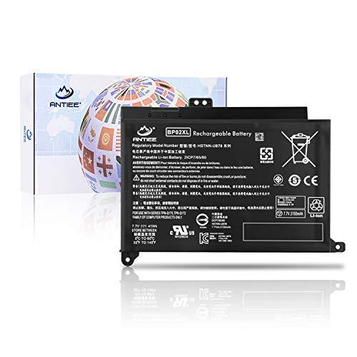 ANTIEE BP02XL Laptop Battery for HP Pavilion PC 15 15-AU000 15-AU018WM 15-AU010WM 15-AU123CL 15-AW068NR 15-AW053NR Series HSTNN-LB7H HSTNN-UB7B BP02041XL 849569-421 849909-850 849569-542 7.7V 41Wh