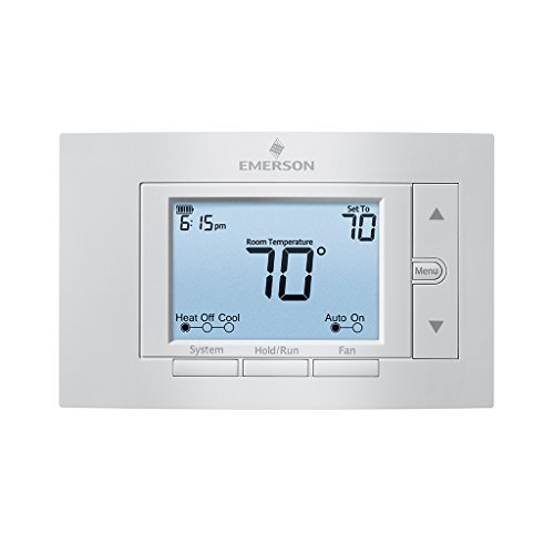 Emerson 1F85U-22PR Programmable Thermostat Dual Fuel Thermostat Range