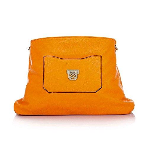 Bolso Orange hombre hombro al Numeroventidue Fluo para qwS8Sdg