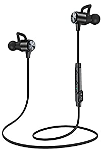 ATGOIN Bluetooth Headphones, Bluetooth 4.1 Lightweight Wireless Stereo Earbuds, NANO Coating Sweatproof Earphones, Noise Cancelling Headsets for Gym Sports with Built-in Mic