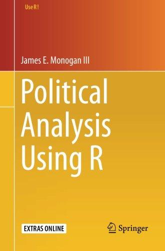 Political Analysis Using R (Use R!)