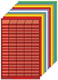 Shapes Se-0369 Small Chart Set Of 12 Assorted Colors44; 1 4 In. X 2 2 In. With 1.2 In. X 1.2 In. Squares Printed On Heavy Tagboard