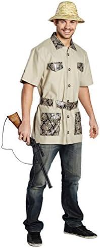 carnaval klamotten Disfraz Safari Camisa Carnaval Jungla Señor Disfraz tamaño 48: Amazon.es: Juguetes y juegos