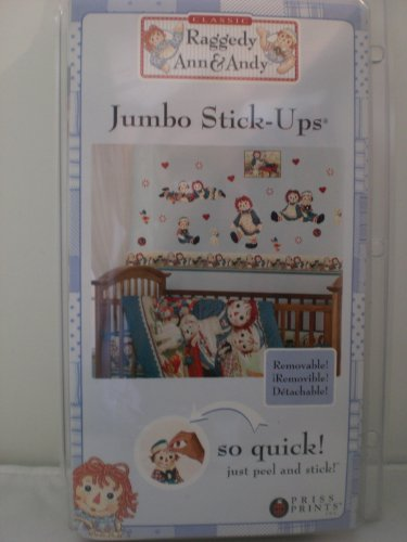 Raggedy Ann & Andy Removable Jumbo Stick-Ups Stickers - Baby Nursery Wall Decor